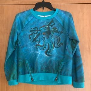 Disney Store pirates octopus sweater blue sequins